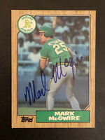 1987 Topps Mark McGwire Card #366 Autographed Card AUTO Oakland Athletics