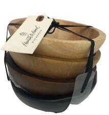Hearth & Hand With Magnolia 4-pk Wood Salad Bowls Nwt