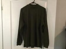 Men's Izod Long Sleeve Dark Green Pullover Size S -B27