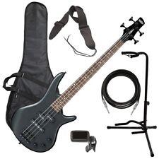 Ibanez GSRM20B miKro Bass Guitar - Weathered Black BASS ESSENTIALS BUNDLE