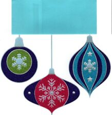 Gorgeous Glass Christmas Ornaments Greeting Cards By Paper Magic Set of 8