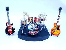 Complete set Miniature Drum Guns N' Roses.SLASH AXL Rose Mini drum set. Mini art