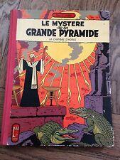 le mystère de la grande pyramide t2 la chambre d'horus 1959 e p jacobs dos toilé