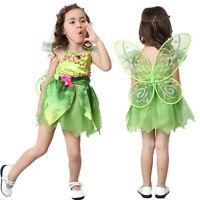 Girl's Tinkerbell Fairy Costume Girls Book Week Fancy Dress & Wings