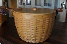 Longaberger Huge 1999 Hostess Corn Combo - Basket, Protector, Wooden Lid