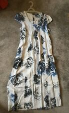 Luca Vanucci Made in Italy 100 Linen Dress Back Tie Size S