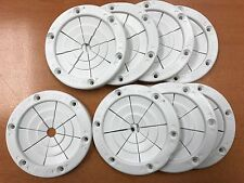 FISHING ROD HOLDER 8 PACK 6685W GROMMET WHITE RUBBER POLE HOLDER 4 INCH OD BOAT