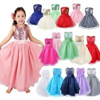 Girls Toddler Baby Tutu Dress Princess Sequin Party Birthday Pageant Kids Dress
