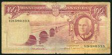 Angola 100 escudos 1962.06.10. Americo Tomas & Salazar Bridge P94 F/VG