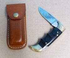 PRE OWNED KERSHAW FOLDING FIELD #1050 KNIFE & LEATHER SHEATH CASE #1