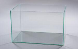 60x30x20 Nano  Aquarium-Glasbecken-TRANSPARENT Wasser Fisch Tank Top & Neu