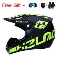 Off-road Motorcycle Helmet ATV Dirt Bike Motocross Racing Helmet+3Pcs Gift