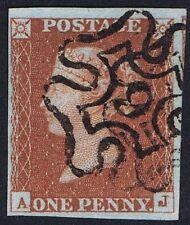 1841 1d Red Pl 43 Aj 4m Fine Used London No 9 in Maltese Cross Cat. £180.00