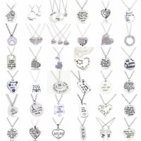Best friends Necklace Family Sister Friendship Mum Love Forever Heart Necklaces