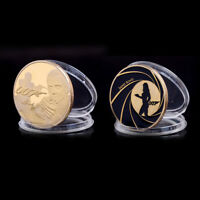 James Bond 007 Gold Plated Commemorative Challenge Coin Collection Souvenir/Nice