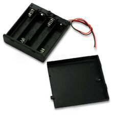 1* 4AA 6V Battery Holder Connector Storage Case Box ON/OFF Switch With Lead Wire