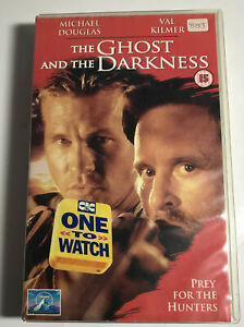 Ghost And The Darkness VHS Video Big Box Ex Rental Large Case CIC
