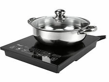 Rosewill 1800 Watt 5 Pre-Programmed Settings Induction Cooker Cooktop w/ SS Pot