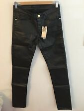 Juicy Couture Women's Black Coated Skinny Jean Size 27