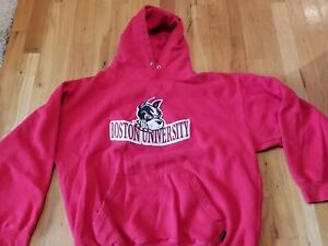 Boston University Terriers red Youth Large  Hoodie Sweatshirt nice