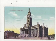 Portsmouth Town Hall Vintage Postcard 659a