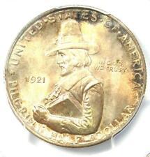 1921 Pilgrim Half Dollar 50C Coin - Certified PCGS MS67 - $2,000 Value!