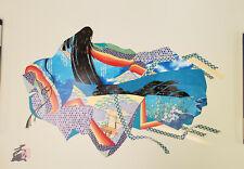 Immortal Poetess by Hisashi Otsuka Mixed Media Print LE Signed ~ Unframed w/COA