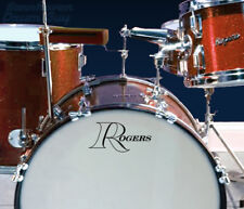 Rogers, 'Open R', Vintage, Repro Logo - Adhesive Vinyl Decal for Bass Drum Head