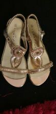 Womens Gold Jewel Sandals Size 6
