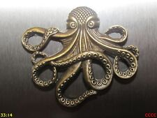 steampunk bronze fridge magnet kraken octopus pirates of the caribbean