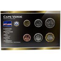 CAPE VERDE 6 COINS FULL SET: 1, 5, 10, 20, 50, 100 CAPE VERDEAN ESCUDOS 1994 UNC