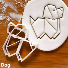 Origami Dog cookie cutter | dogs lover puppy rescue treats pets shelter biscuit