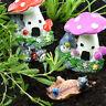 Miniature Toadstool Houses + Critters Fairy Garden Set Mowbray Miniatures (5pcs)