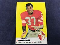 B4-67 FOOTBALL CARD - JIMMY JOHNSON SAN FRANCISCO 49ers - 1969 TOPPS - CARD #113