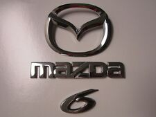 2006 MAZDA 6 MAZDA6 REAR TRUNK EMBLEM DECAL LOGO SET CHROME 03 04 05 06 07 08
