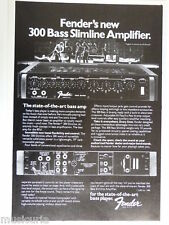 retro magazine advert 1981 FENDER 300 bass amp