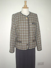LADIES LEAD REIN JACKET BLACK, CAMEL & CREAM SIZE 14 / 16