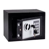 COFFRE-FORT SERRURE A COMBINAISON DIGITALE + CLES 23X17X17CM