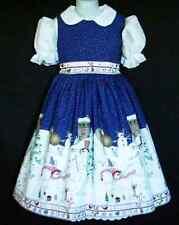 NEW Handmade Daisy Kingdom Peppermint Hills Christmas Border Dress Custom Size