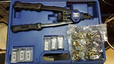Astro Pneumatic Nut/ Thread Hand Riveting Tool Kit with Case, Rivet Nut #1442