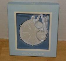 Wedgwood White Snowflake Ornament Porcelain Beautiful! Wedgewood w/ box