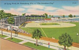 """Playing Baseball at """"Old"""" Al Lang Field along St. Petersburg, Florida Waterfront"""