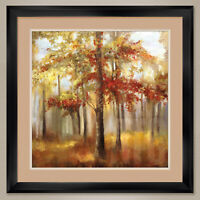 """35W""""x35H"""": SOFT LIGHT by ALLISON PEARCE - TREE - DOUBLE MATTE, GLASS and FRAME"""