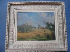 Huile Sur Panneau Paysage Signé M.Masson Tableau Peinture Début XXème Avec Cadre