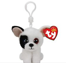 Ty Beanie Boo Marcel the Dog Clip Keychain