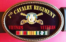 Vietnam Veteran 7th CAVALRY REGIMENT Epoxy Belt Buckle -NEW!