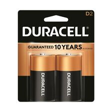 2 Pack Duracell CopperTop Alkaline D Size D2 1.5V Batteries