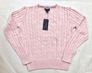Polo Ralph Lauren Girls Pink Knit Pullover Sweater