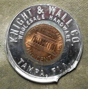 Tampa, Fla., Knight & Wall Co. Encased 1965P 1c, multiple errors