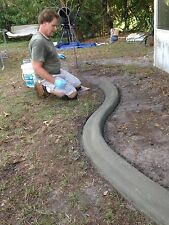 Custom curbing  concrete edging  landscaping DIY